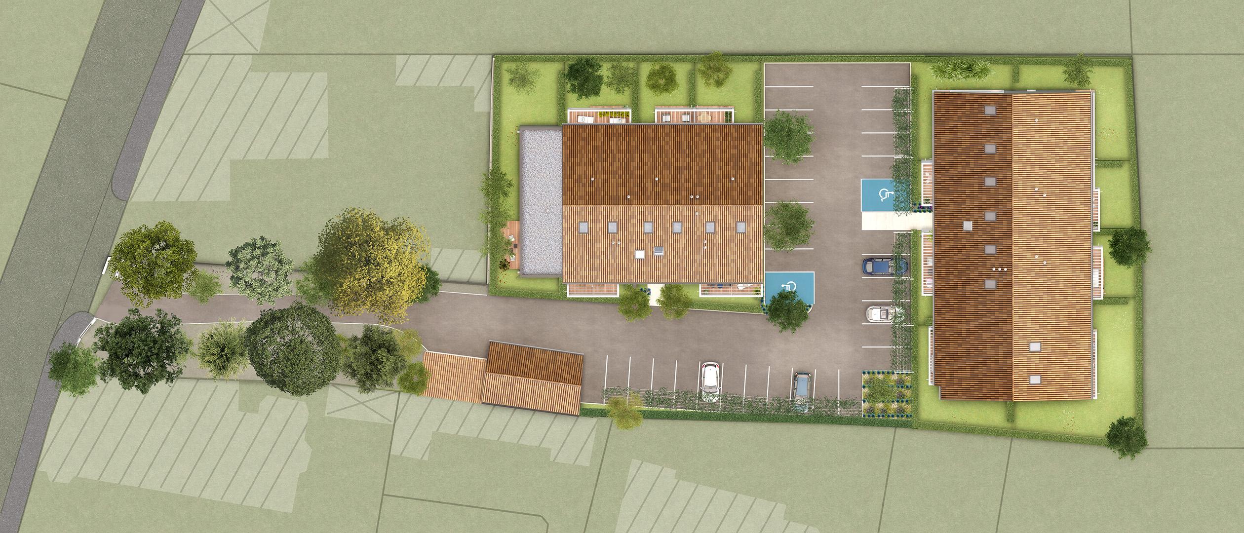 Eclisse Promotion - Plan 3D résidence La Mauvaise Herbe