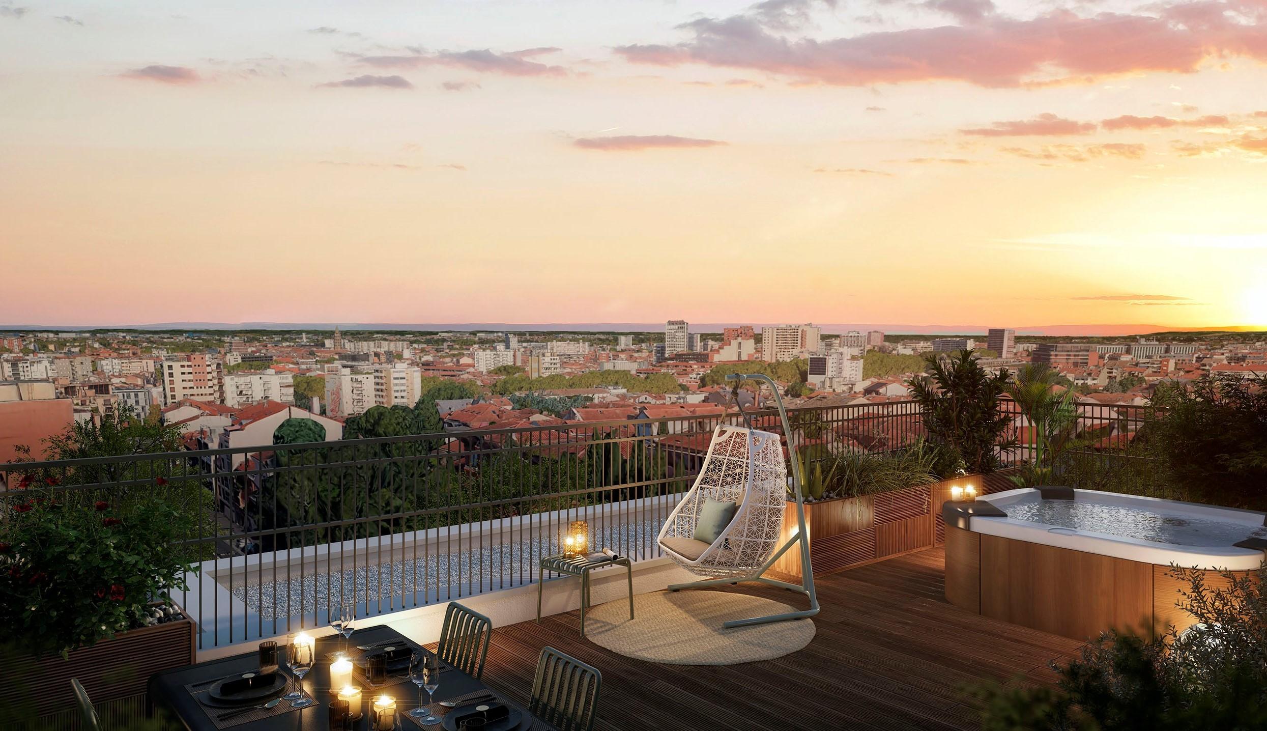 Eclisse Promotion - résidence L'Arte vue terrasse
