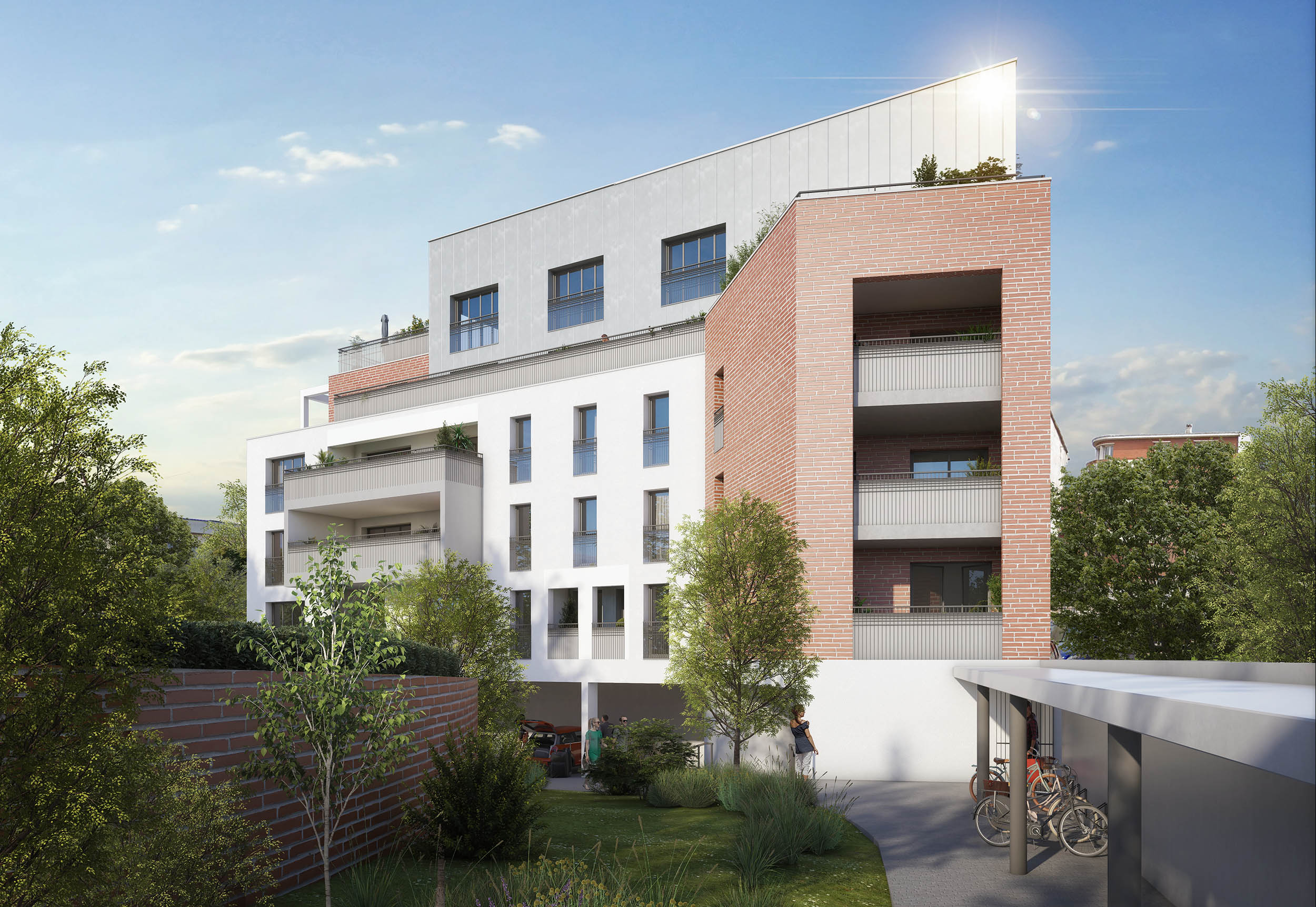 Eclisse Promotion - résidence L'Arte vue jardin