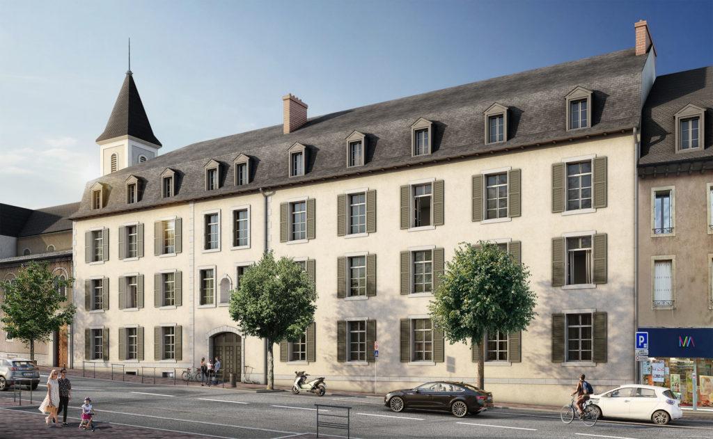 Eclisse Promotion - résidence Carré d'Art vue façade à Rodez
