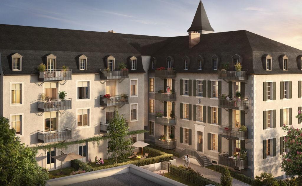 Eclisse Promotion - résidence Carré d'Art à Rodez vue de la cour